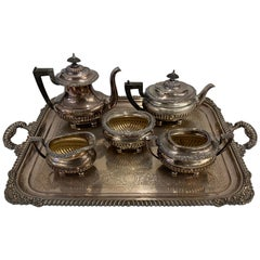 "Reed and Barton, ""Sulgrave Manor"", 20th Century Tea Set"