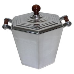 Reed & Barton Art Deco Style Aluminum Ice Bucket