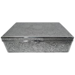 Reed & Barton Edwardian Art Nouveau Sterling Silver Box