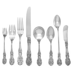 """Reed & Barton """"Francis the First"""" Sterling Silver Flatware Set"""