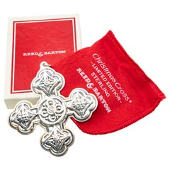 Reed & Barton Sterling Christmas Cross 1971 with Original Box