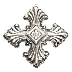 Reed & Barton Sterling Silver 1973 Christmas Cross Ornament