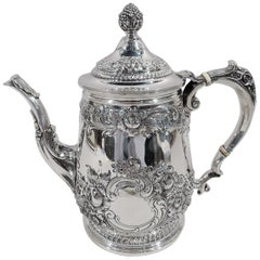 Reed & Barton Sterling Silver Coffeepot in Georgian Pattern