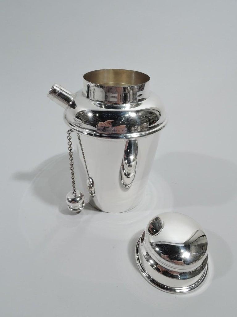 Mid-Century Modern Reed & Barton Sterling Silver Modern Mini Martini Solo Shaker