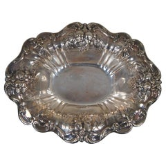 Reed & Barton Sterling Silver X566F Francis I Footed Serving Dish Bowl 680g