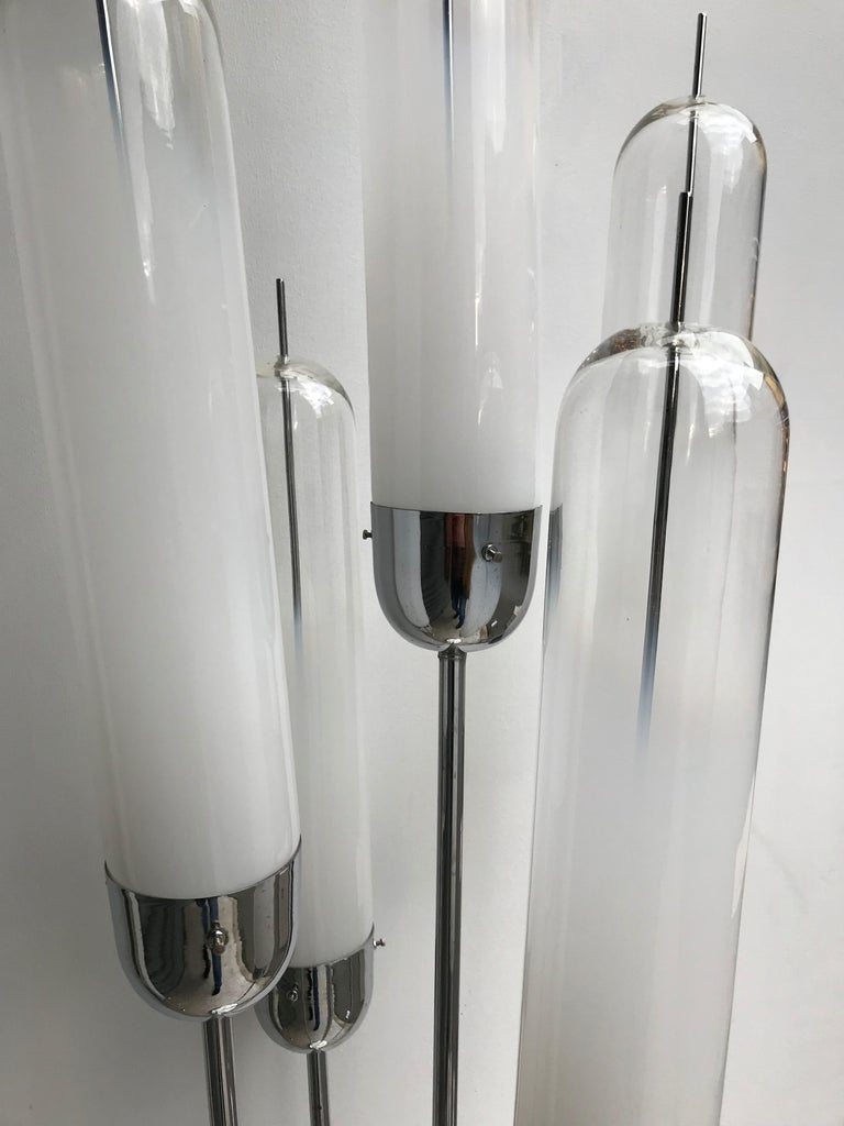 Late 20th Century Reed Floor Lamp by Mazzega Murano Glass, Italy, 1970s For Sale