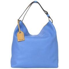 Reed Krakoff Blue Leather Cadet II Hobo Bag W/ Luggage Tag rt. $1,430