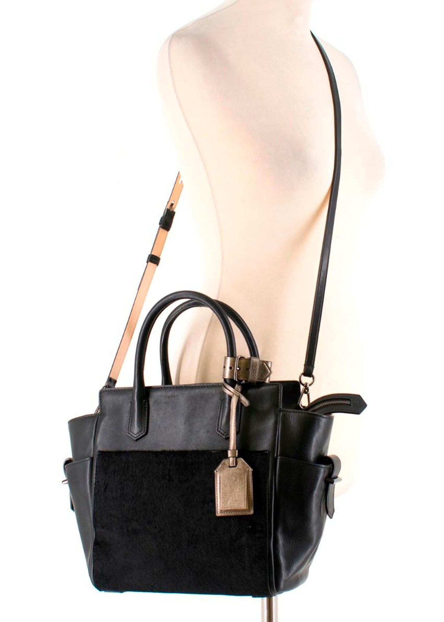 28c3deffd6 Reed Krakoff calf hair and leather bag For Sale at 1stdibs