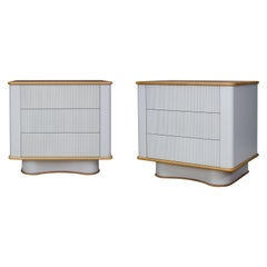 Reeded Bancroft Walnut Bedside End Tables by Chapter & Verse