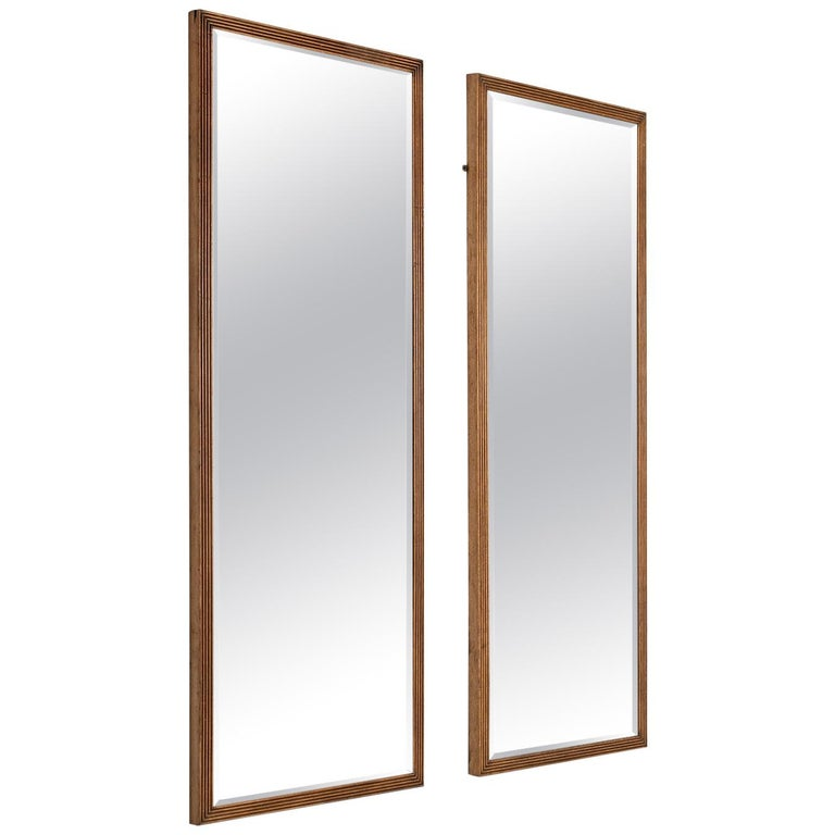 Reeded Oak Outfitters Mirror For Sale
