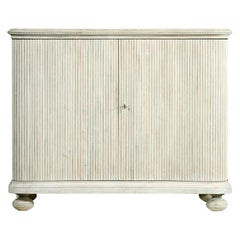 Reeded White Washed Cabinet