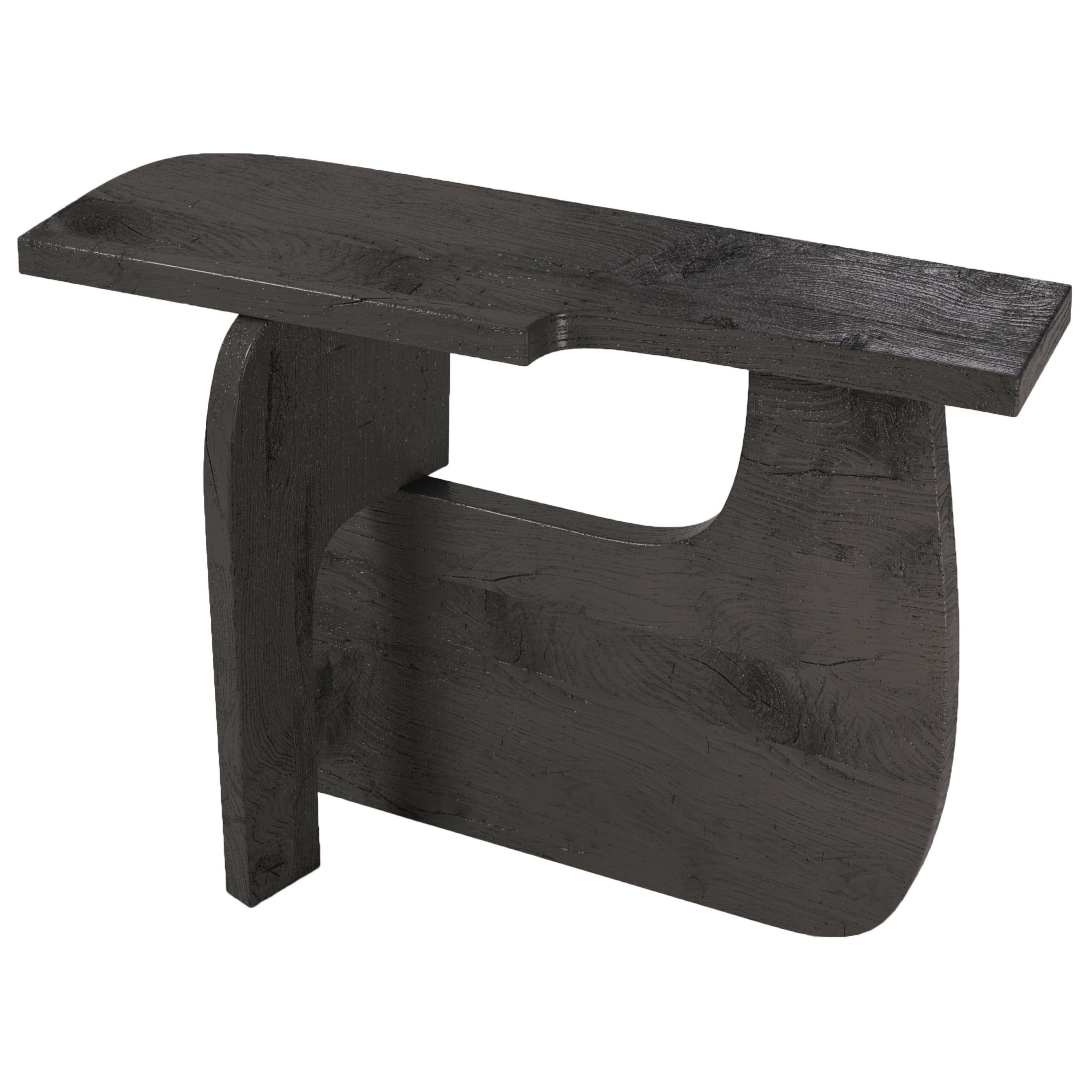 Reef, 21st Century Console in Charred Wood