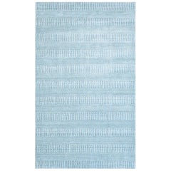 Reese, Contemporary Solid Handwoven Area Rug, Aqua