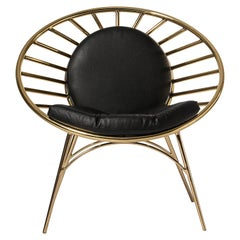 Reeves Chair in Black with Metallic Frame