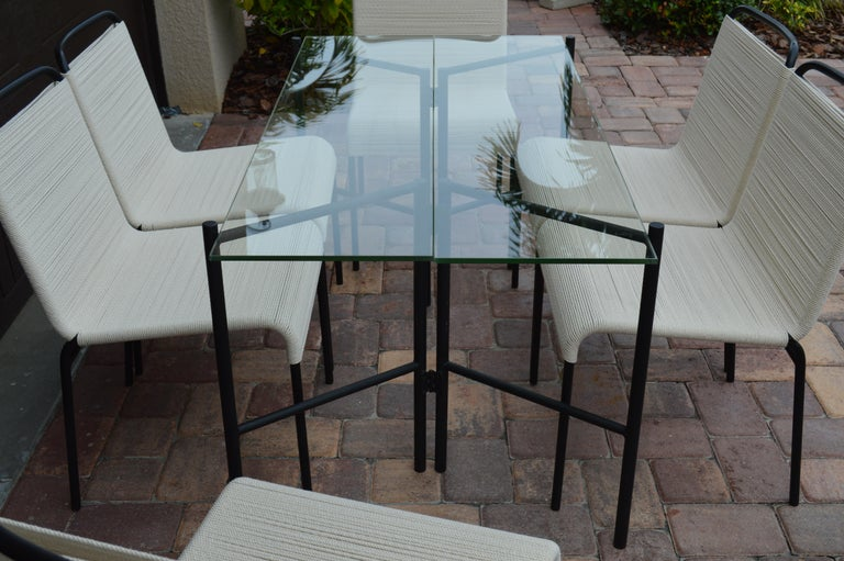 Refectory Table with Glass Shelves by Van Keppel-Green, Early 1950s For Sale 4