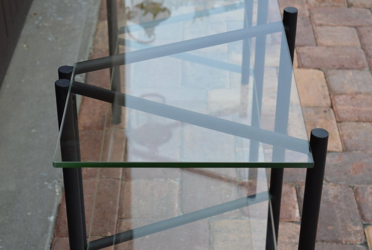 American Refectory Table with Glass Shelves by Van Keppel-Green, Early 1950s For Sale
