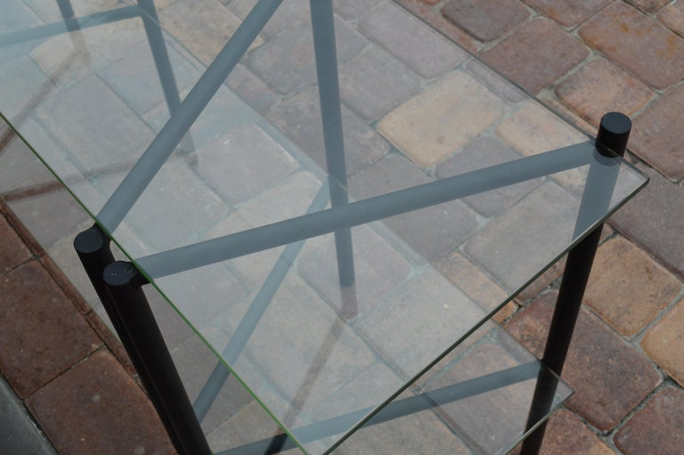 Refectory Table with Glass Shelves by Van Keppel-Green, Early 1950s In Good Condition For Sale In St.Petersburg, FL