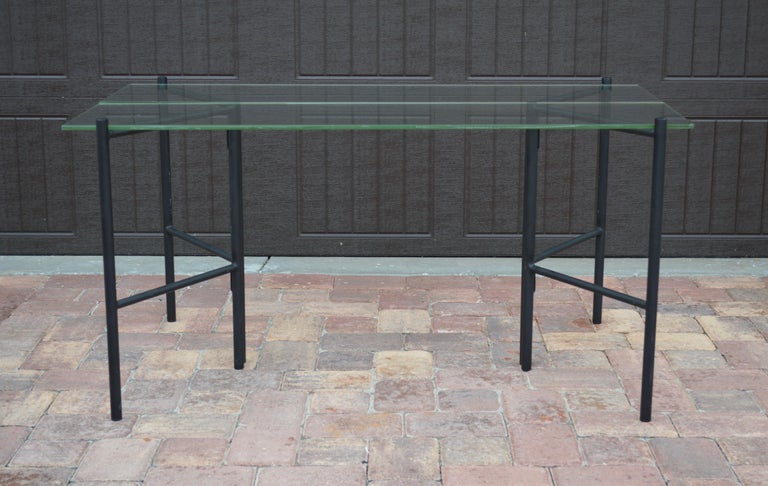 Refectory Table with Glass Shelves by Van Keppel-Green, Early 1950s For Sale 1
