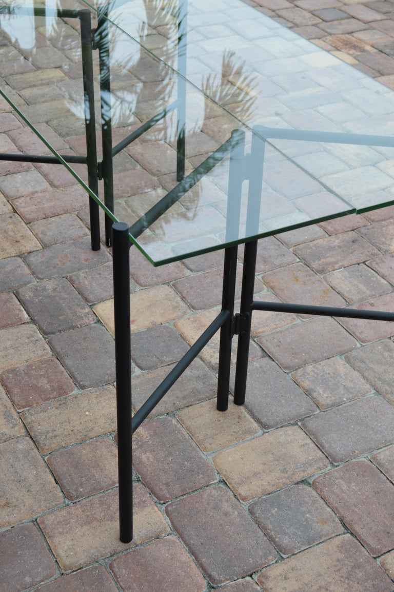 Refectory Table with Glass Shelves by Van Keppel-Green, Early 1950s For Sale 2
