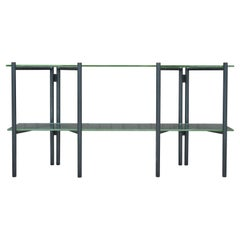 Refectory Table with Glass Shelves by Van Keppel-Green, Early 1950s