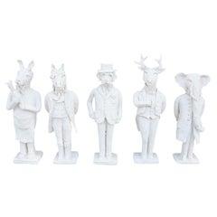 Refine Animal Ceramic Sculptural Candle Stick Holders