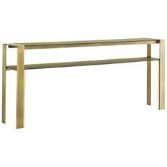 Refined Bronze Console Table