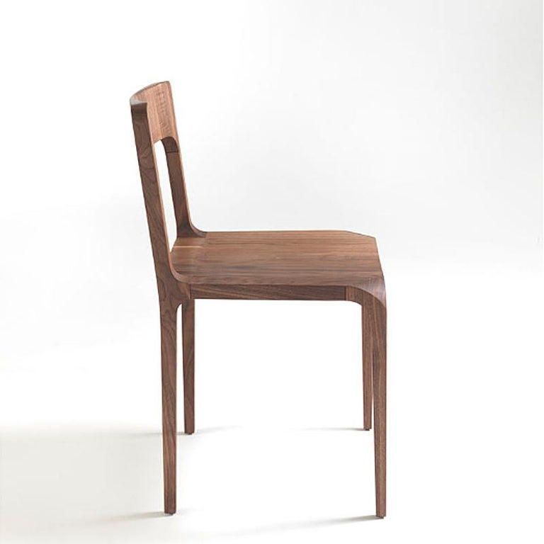 Italian Refined Dining Chair For Sale