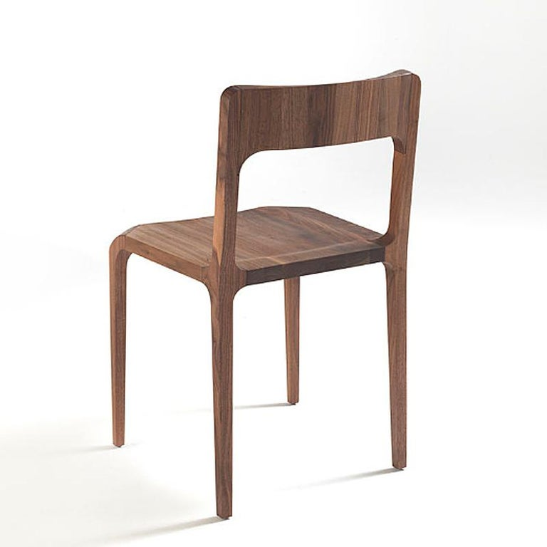 Hand-Carved Refined Dining Chair For Sale