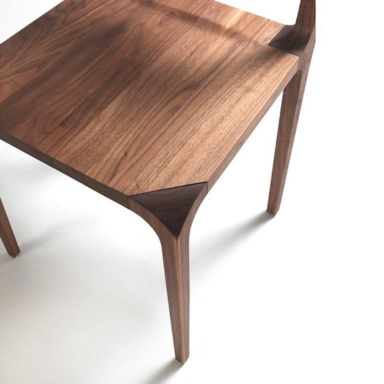Contemporary Refined Dining Chair For Sale