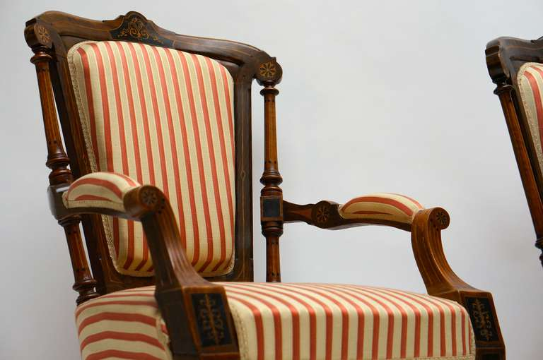 Refined Set of Two Victorian Low Chairs For Sale 3