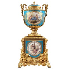 "Refined ""Sèvres"" Clock with Putti"
