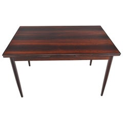 Refinished Brazilian Rosewood Draw Leaf Dining Table