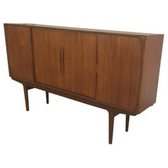 Refinished Danish 1960s Sideboard in Teak with Integrated Bar Section