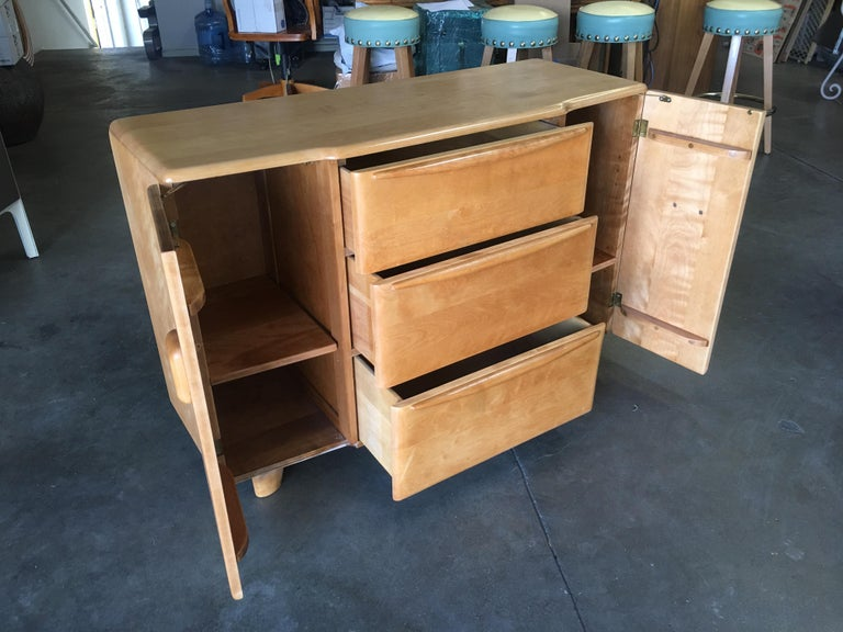 American Refinished Heywood Wakefield Minimalist Encore Sideboard For