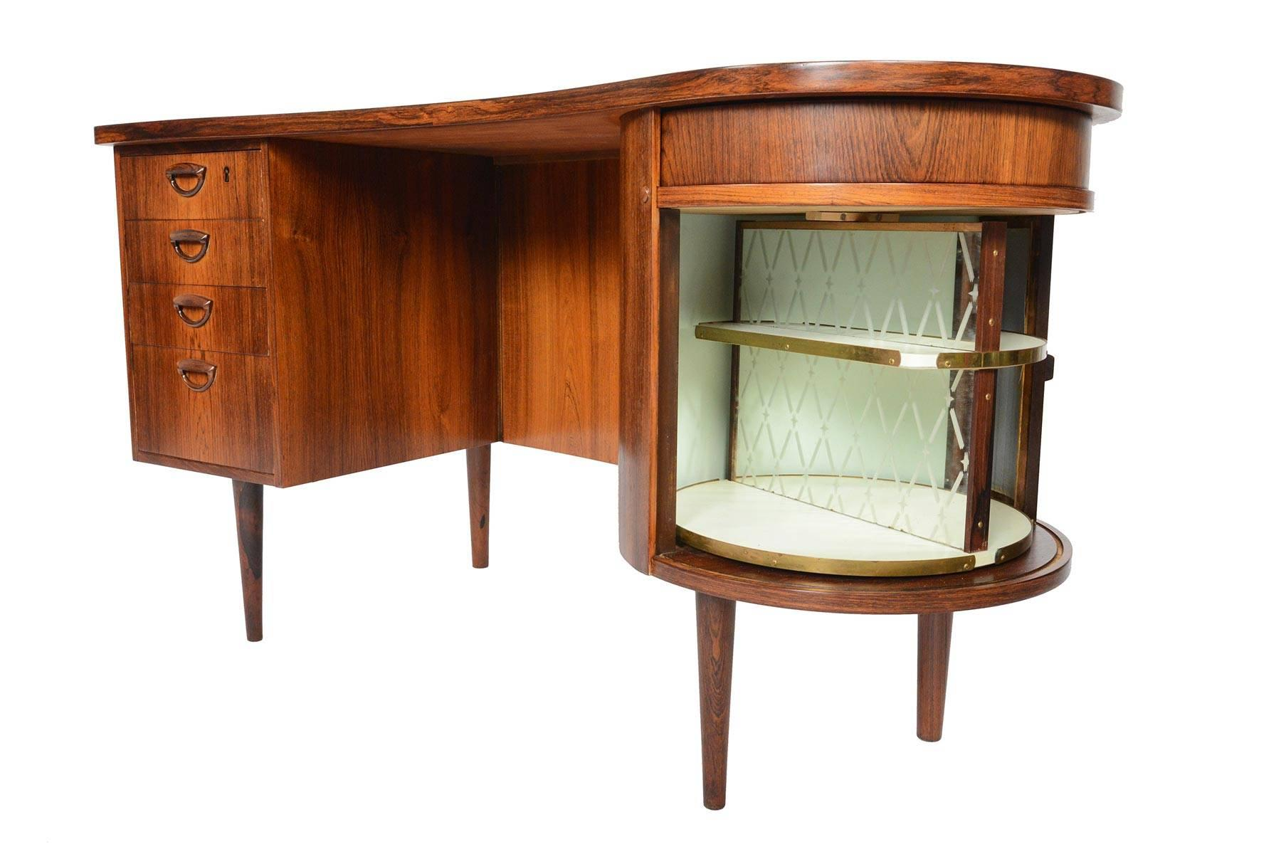 Refinished Kai Kristiansen Model 54 Executive Writing Desk In Brazilian Rosewood For At 1stdibs