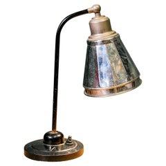 Reflective French Art Deco Style Gooseneck Table Lamp, circa 1930