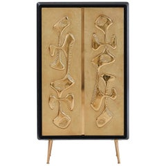 Reform Hammered Brass Tall Cabinet