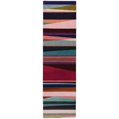 Refraction Bright Hand-Knotted Floor Runner in Wool by Paul Smith