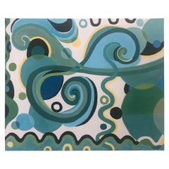 """Refreshing """"Jazzy"""" Abstract with Curlicues and Circles"""