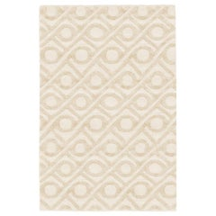 Refreshingly Bold Customizable Shapes Weave Rug in Cream Small