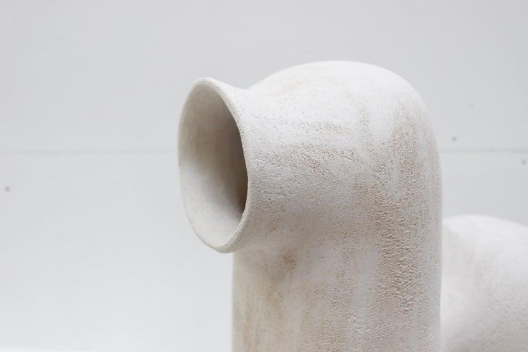 Refuge Black Stoneware Table Lamp by Elisa Uberti For Sale 5