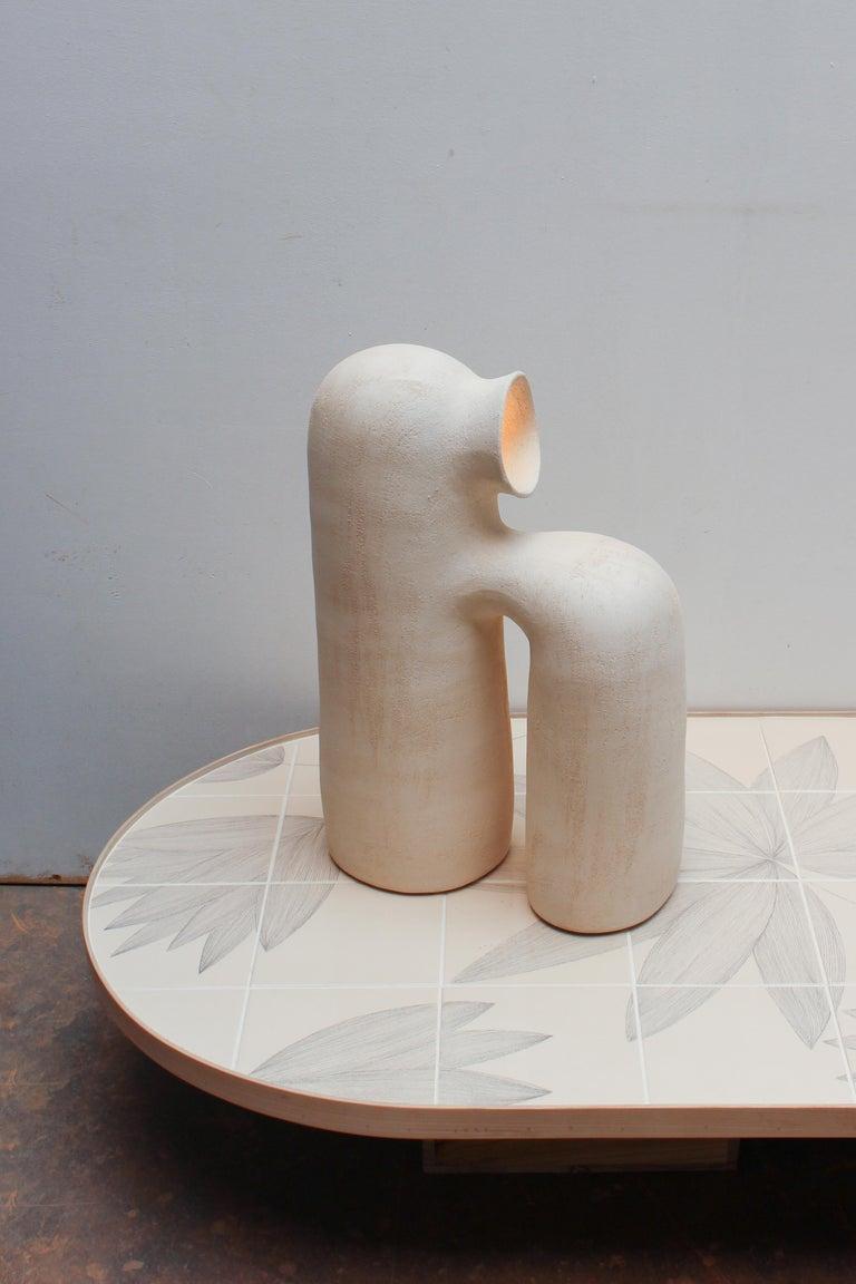 Refuge Black Stoneware Table Lamp by Elisa Uberti For Sale 6
