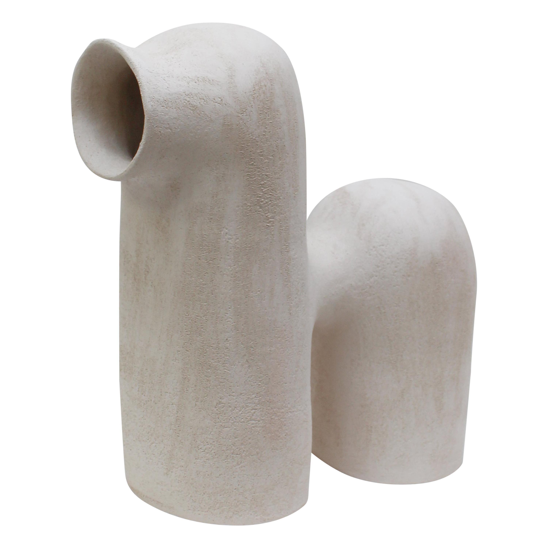 Refuge White Stoneware Table Lamp by Elisa Uberti