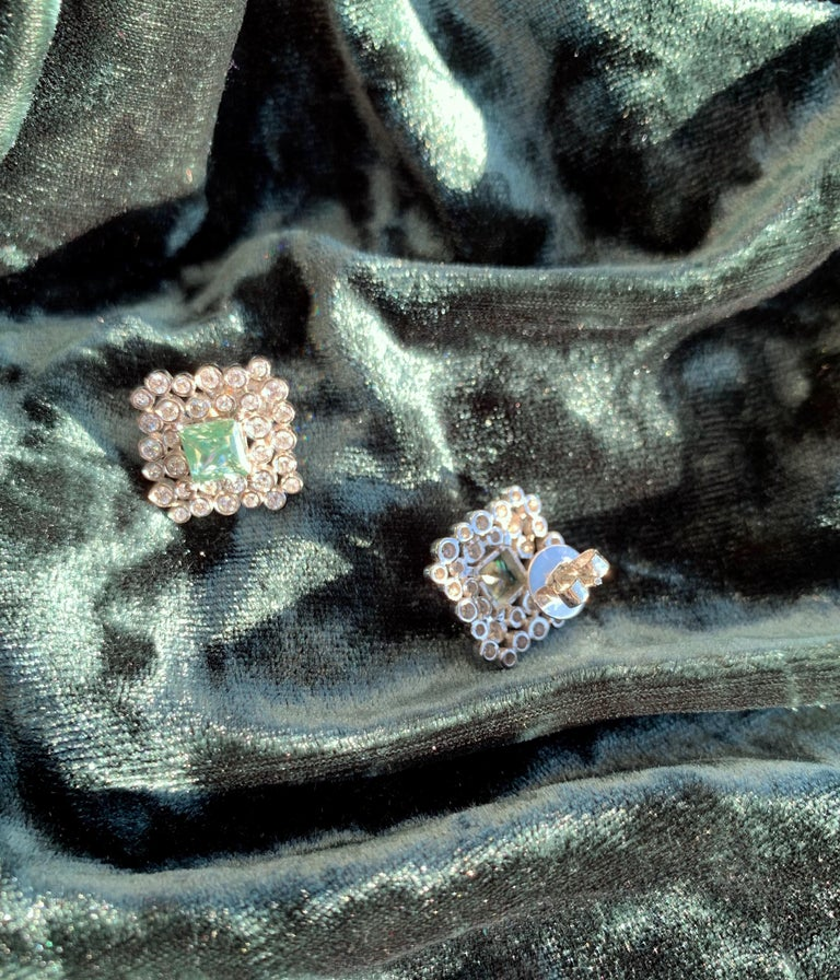 Regal Diamond Large Earrings In New Condition For Sale In Fort Collins, CO