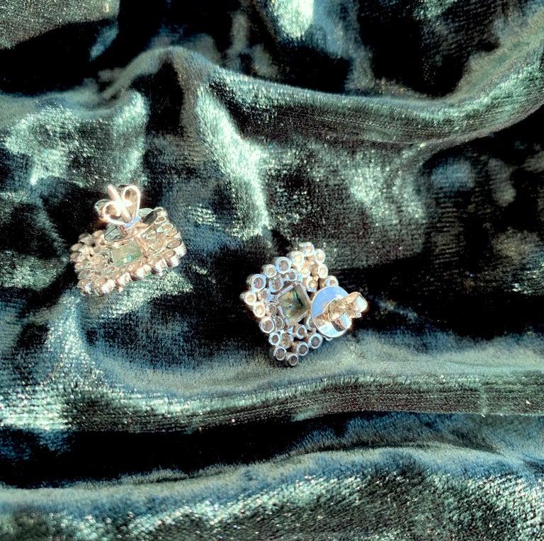 Women's Regal Diamond Large Earrings For Sale