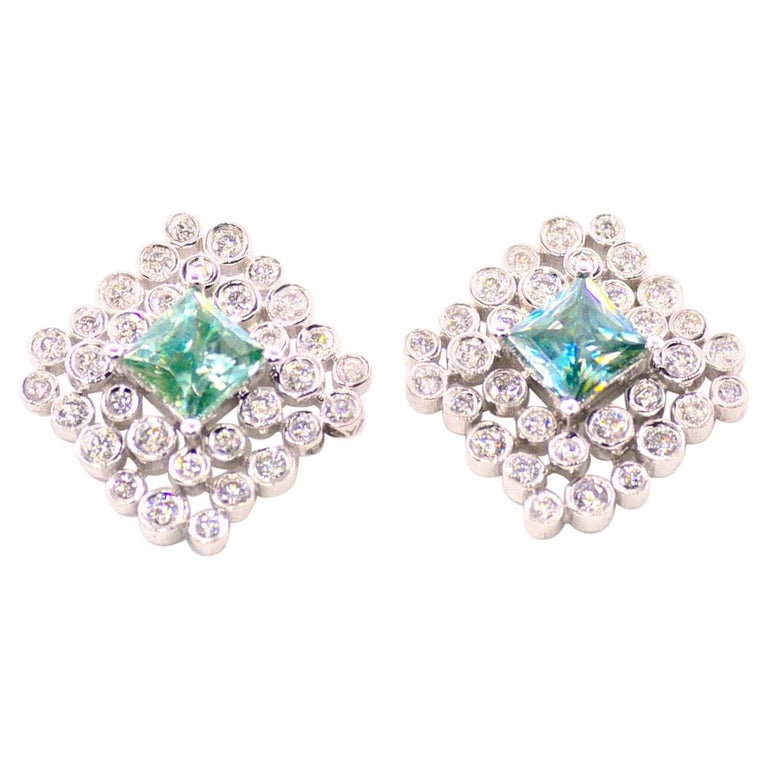 These dazzling 1.2CT diamond  Regal Diamond Earrings with timeless elegance will make you effortlessly chic and unique.  Most of our jewels are made to order, so please allow us for a 2-4 week delivery. Please note the possibility of natural