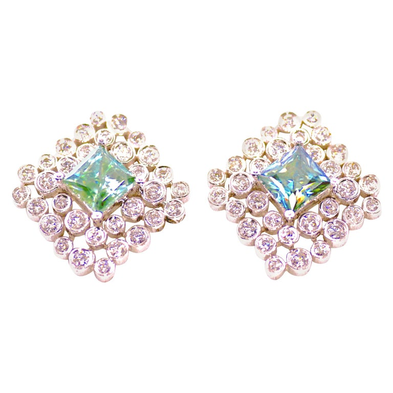 Regal Diamond Large Earrings For Sale