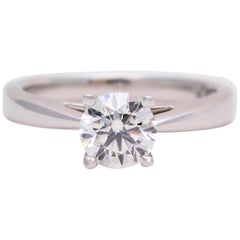 Regal Elegance 1.06 Carat Round Brilliant Diamond Solitaire Platinum Engagement