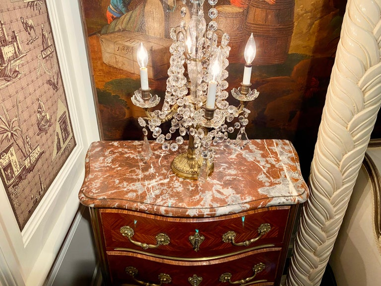 Regence Parquetry French Commode, Marble Top, 19th Century For Sale 10