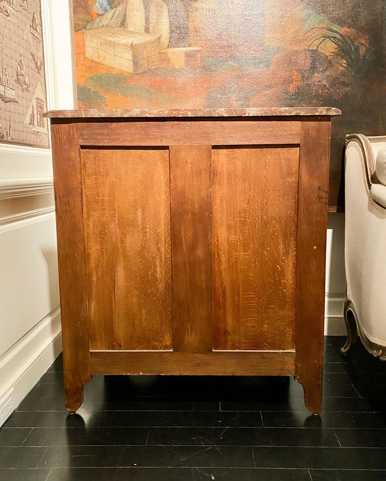 Regence Parquetry French Commode, Marble Top, 19th Century For Sale 3